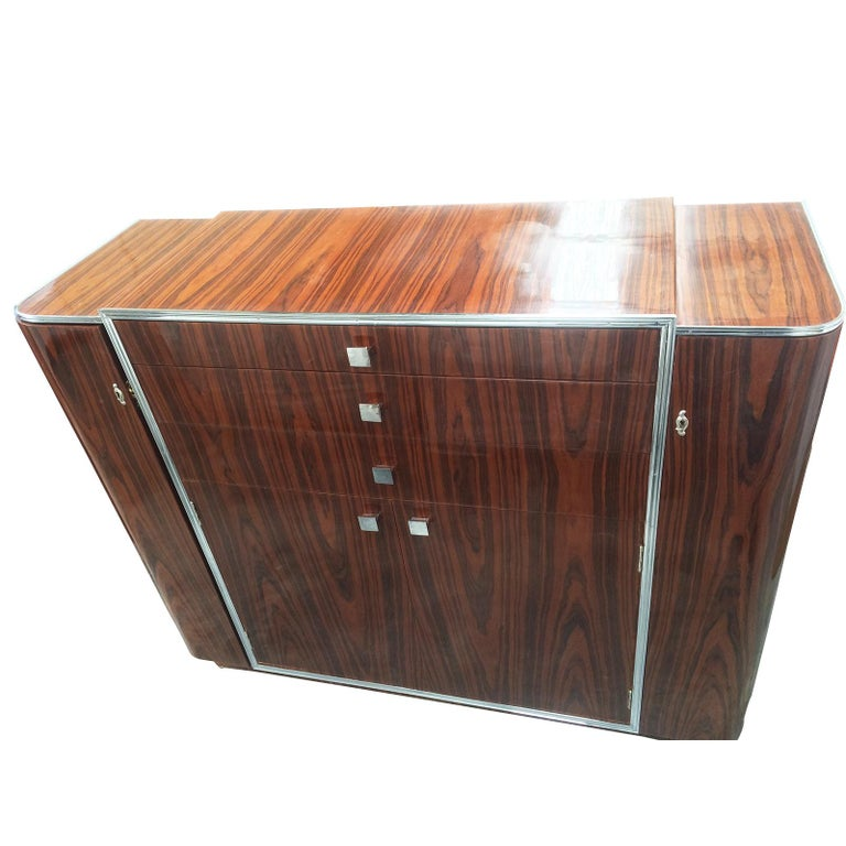 Art Deco Design Double Ended Cocktail Bar Cabinet For Sale