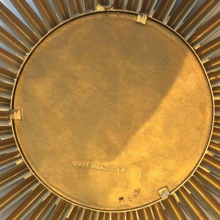 Mid-Century Modern French Midcentury Sunburst Chaty Vallauris Mirror For Sale