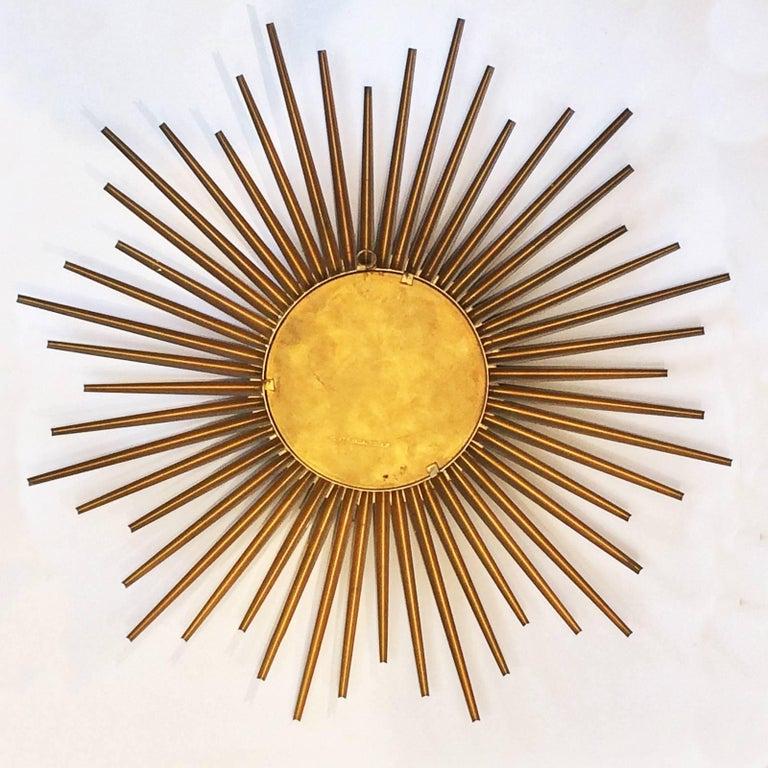 French Midcentury Sunburst Chaty Vallauris Mirror In Excellent Condition For Sale In Daylesford, Victoria