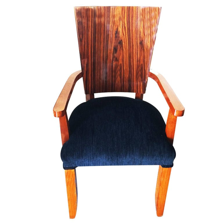 Set of Eight Art Deco Style Dining Chairs