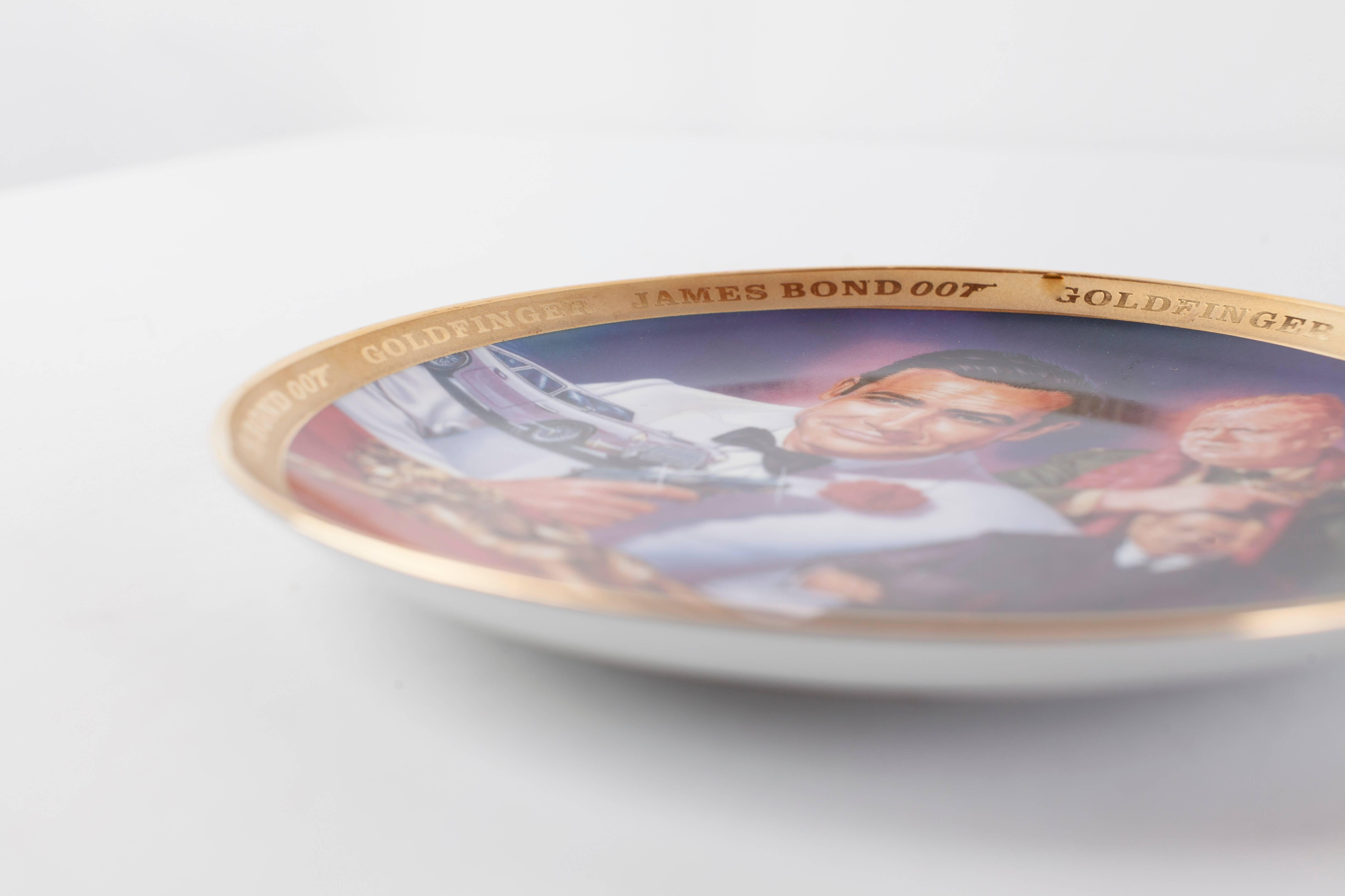 Franklin Mint Limited Edition Set of Six James Bond Plates by Dick Bobnick at 1stdibs & Franklin Mint Limited Edition Set of Six James Bond Plates by Dick ...