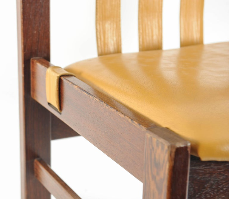 Dutch Set of 4 Midcentury Chairs with Leather Designed, Martin Visser for 't Spectrum For Sale