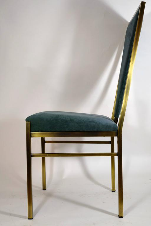Belgo Chrome Set Of Six Dining Chairs At 1stdibs