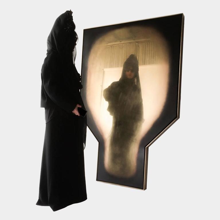 Minimalist Polished Brass 'Nero' Mirror by Lukas Machnik For Sale