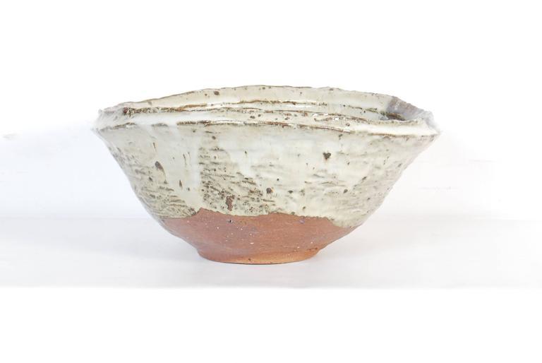 Glazed Large Japanese Stoneware Bowl by Maruta Munehiko For Sale