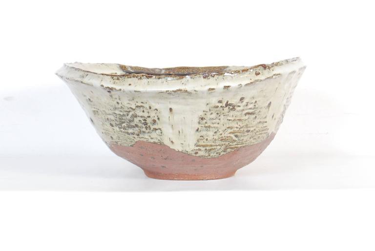 20th Century Large Japanese Stoneware Bowl by Maruta Munehiko For Sale