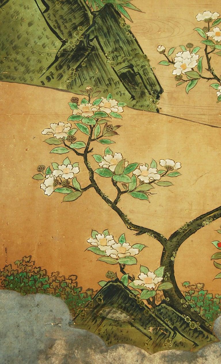 18th Century Japanese Kano School Landscape Screen In Good Condition For Sale In Prahran, Victoria