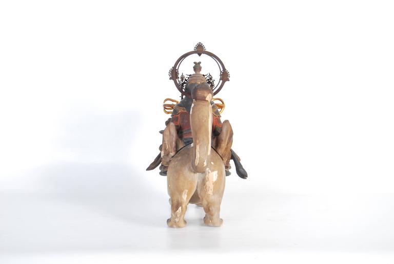 Edo Antique Japanese Statue of Dakini Ten For Sale