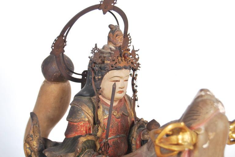 Antique Japanese Statue of Dakini Ten For Sale 1
