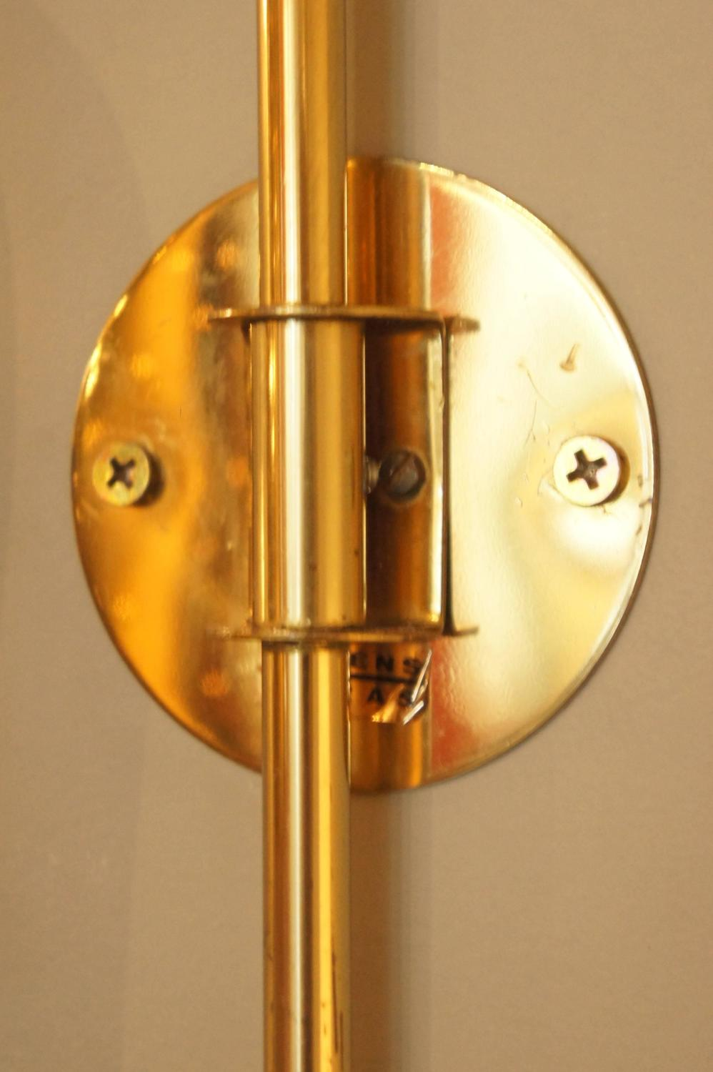 Solid Brass Wall Sconces : Swedish Solid Brass Sconce at 1stdibs