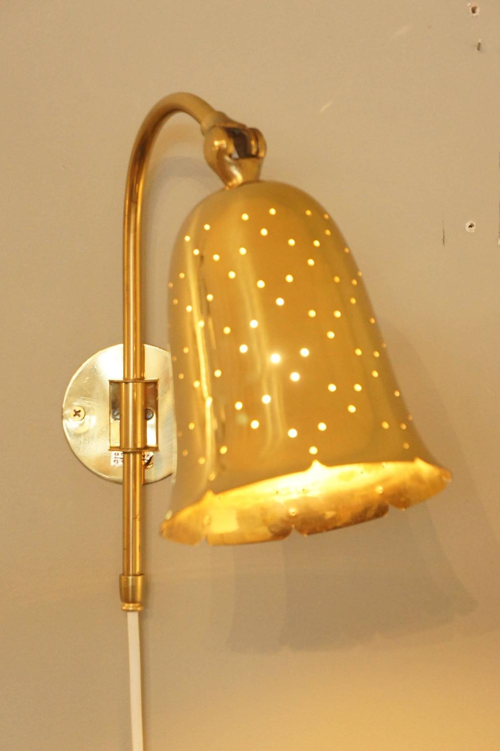 Swedish Solid Brass Sconce at 1stdibs