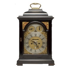 18th Century Ebonized Bracket Clock by John Monkhouse