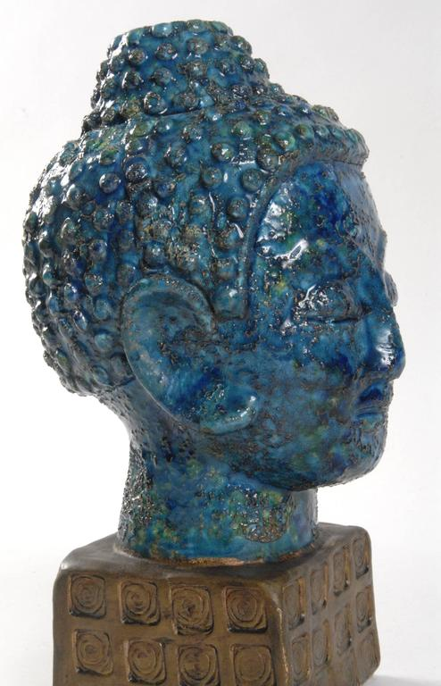 Midcentury Bitossi Buddha Head Italy At 1stdibs