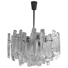Mid-Century Modern Glass Chandelier by Kalmar, Austria, 1960s