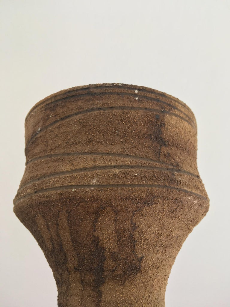Mid-Century Modern Studio Ceramic Sculpture or Vessel by Clive Brooker, England For Sale 2