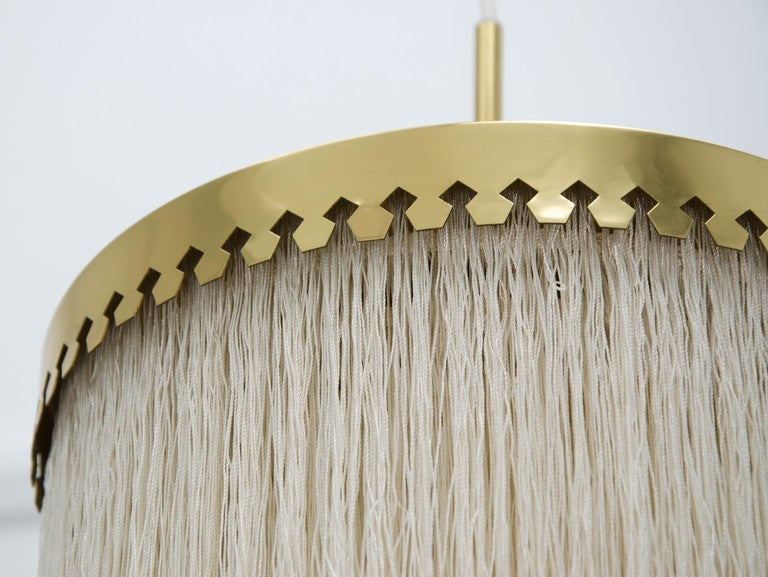 Fringed Pendant Light by Hans-Agne Jakobsson, Sweden, 1960s In Good Condition For Sale In London, GB