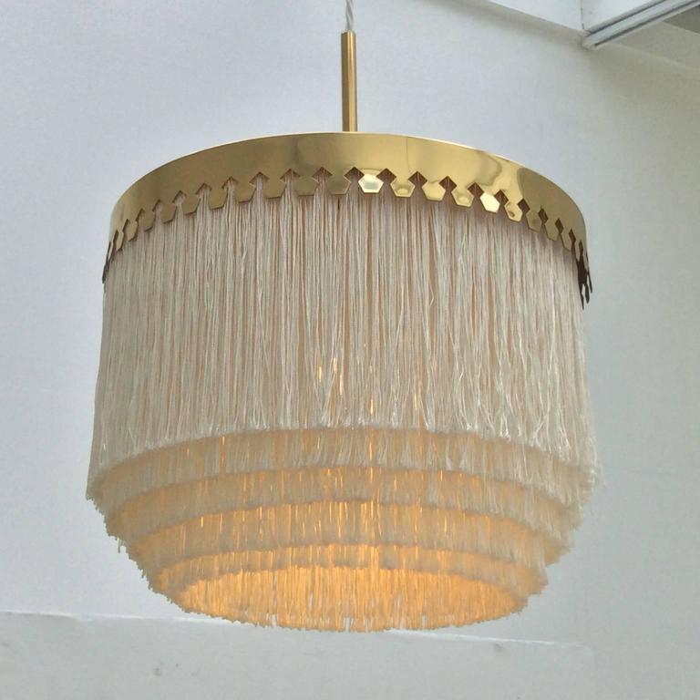 Fringed Pendant Light by Hans-Agne Jakobsson, Sweden, 1960s For Sale 3