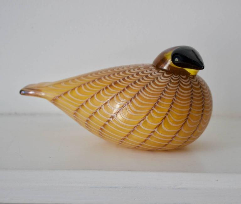Finnish Hakki Glass Bird by Oiva Toikka, 1996