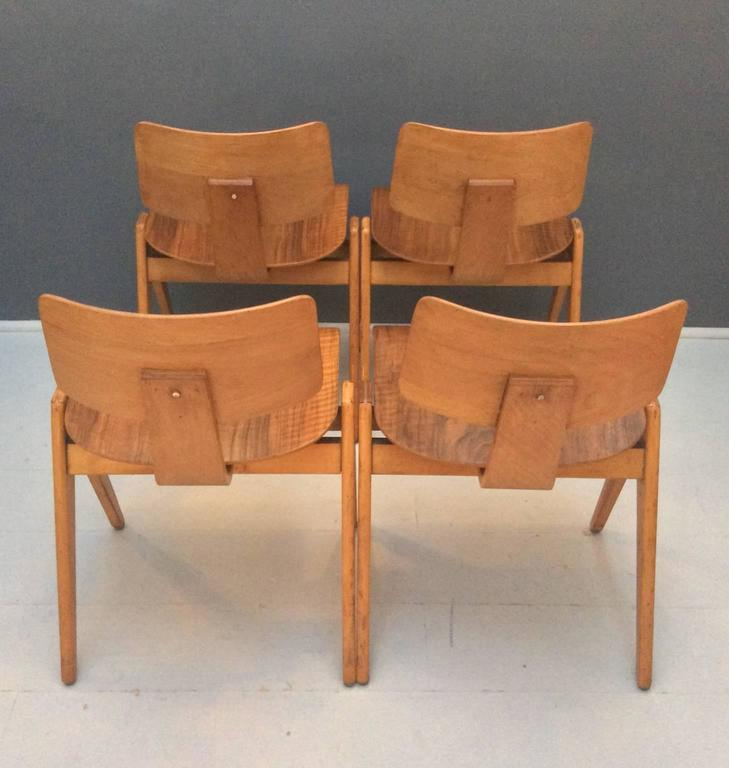 Set Of Four Hille Stak Chairs By Robin Day 1950s At 1stdibs