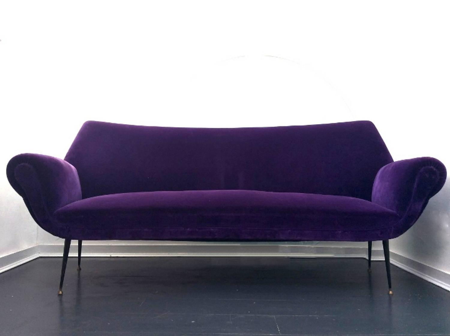 curved sofa in the style of gigi radice italy 1950s for sale at 1stdibs