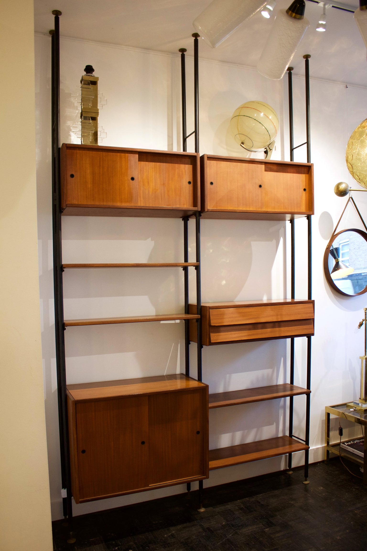 Shelving System or Room Divider Italy 1960s at 1stdibs