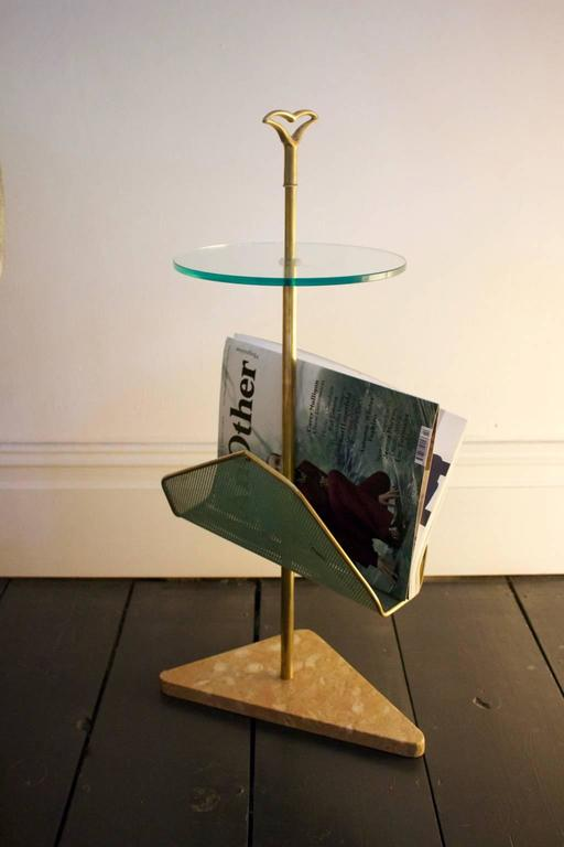 Side Table with Magazine Rack, Italy, 1950s 6