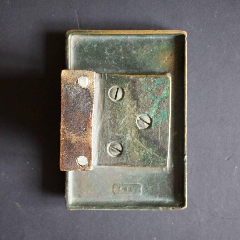 Cast Abstract Bronze Door Handle For Sale