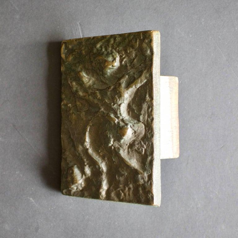 European Abstract Bronze Door Handle For Sale