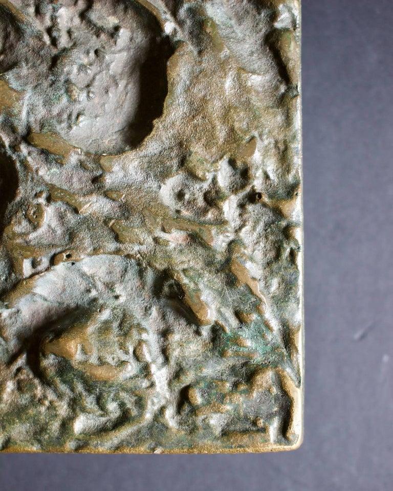 Mid-Century Modern Abstract Bronze Door Handle For Sale