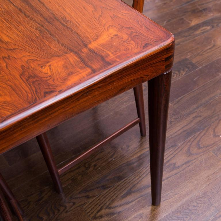 Rosewood Extension Dining Table By H W Klein For Bramin