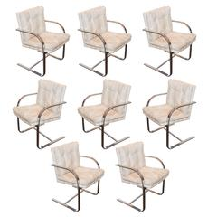 Set of Eight Vintage Brno Style Chairs from Roche Bobois