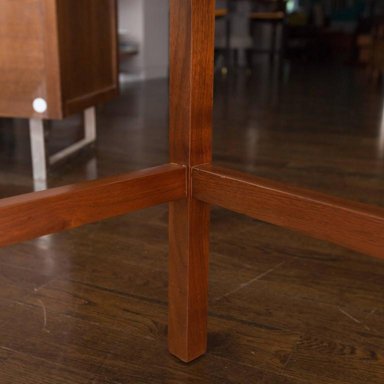 Mid Century Modern Two Tiered Triangle End Table For Sale