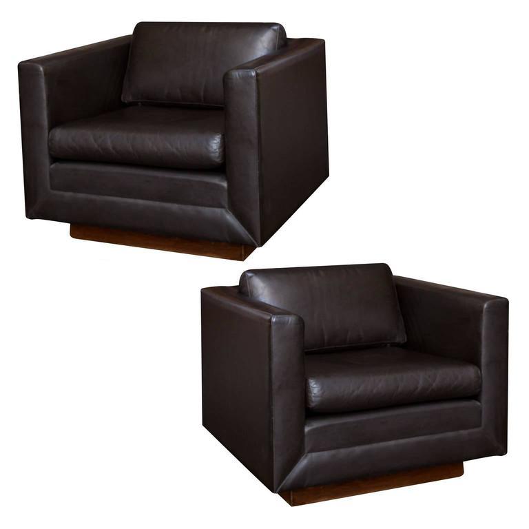 vintage leather club chairs. Gunlocke Vintage Leather Club Chairs For Sale N