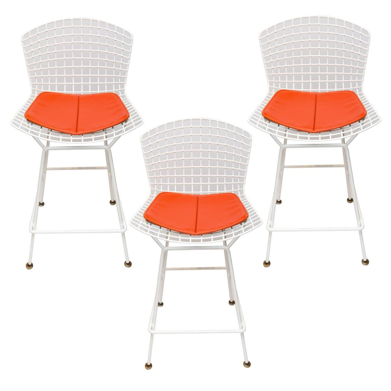 Set of three Knoll Bertoia Bar or Counter Stools at 1stdibs