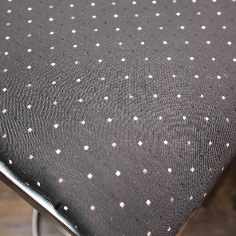 Swaim Designs Set Of Four Chrome Upholstered Bar Stools At