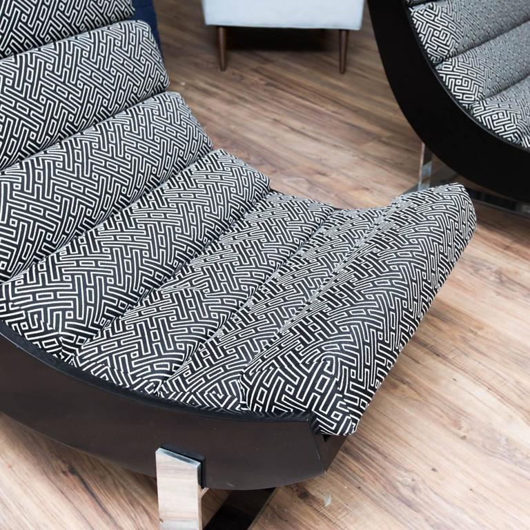 Jay Spectre Style Lounge Chairs For Sale 2