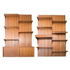 Cado Wall System in Walnut with Four Panels