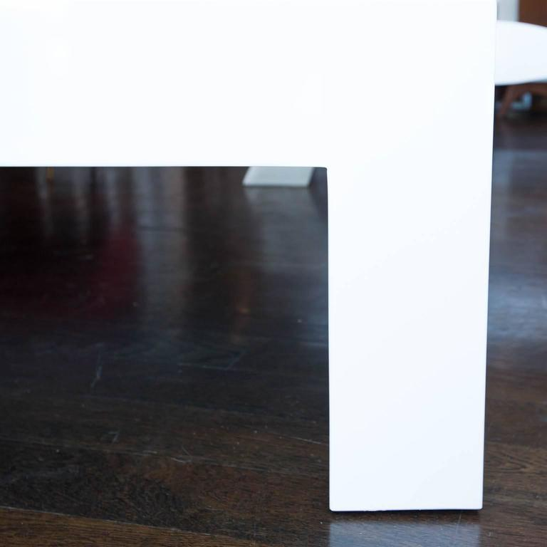 Square Lacquered Parsons Style Coffee Table 2