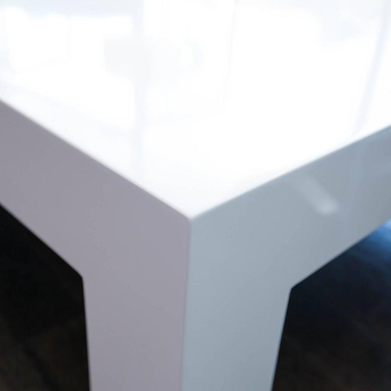 Square Lacquered Parsons Style Coffee Table 4