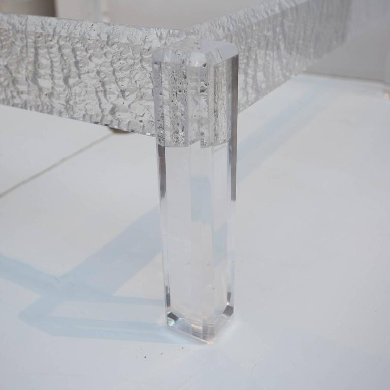 Large Custom Lucite Coffee Table Base For Sale at 1stdibs