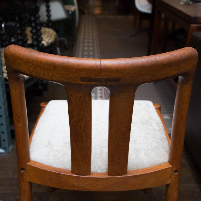 Set of six uldum danish modern teak dining chairs at 1stdibs for Dscan dining room set