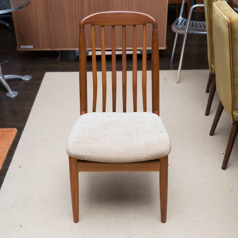 Set of Six Danish Modern Ansager Mobler Teak Dining Chairs at 1stdibs