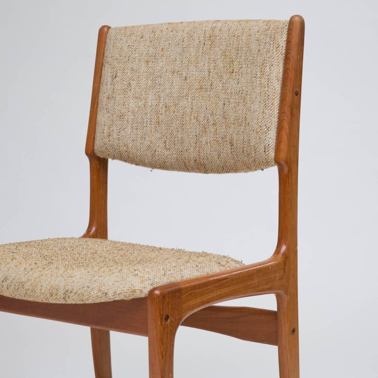 Set Of Eight Danish Modern Teak Dining Chairs For Sale At