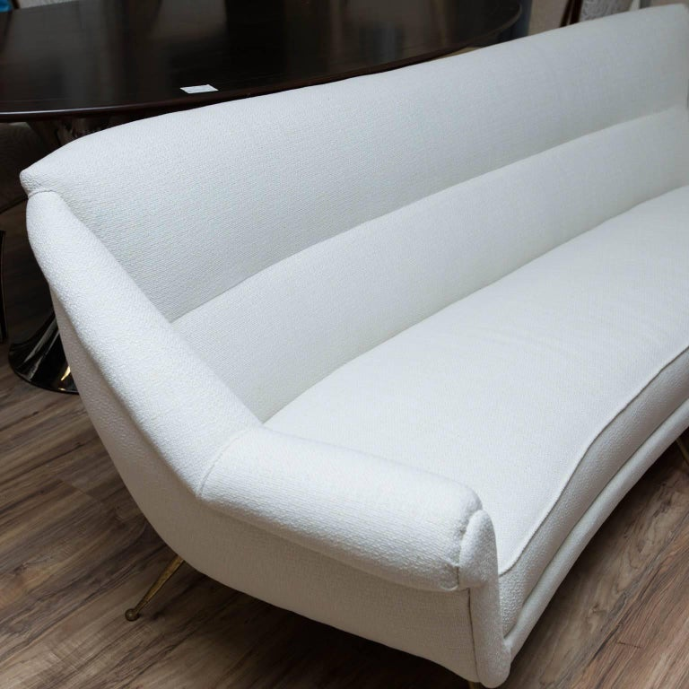 Vintage copy of a Gio Ponti designed sofa, newly reupholstered and ready for another 60 years.