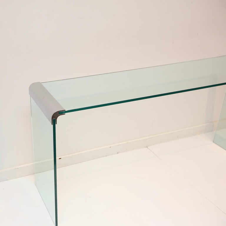 20th Century Pace Collection Waterfall Console Table For Sale