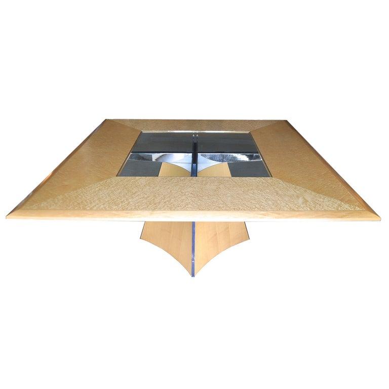 Senior & Carmichael Birdseye Maple Dining Table For Sale