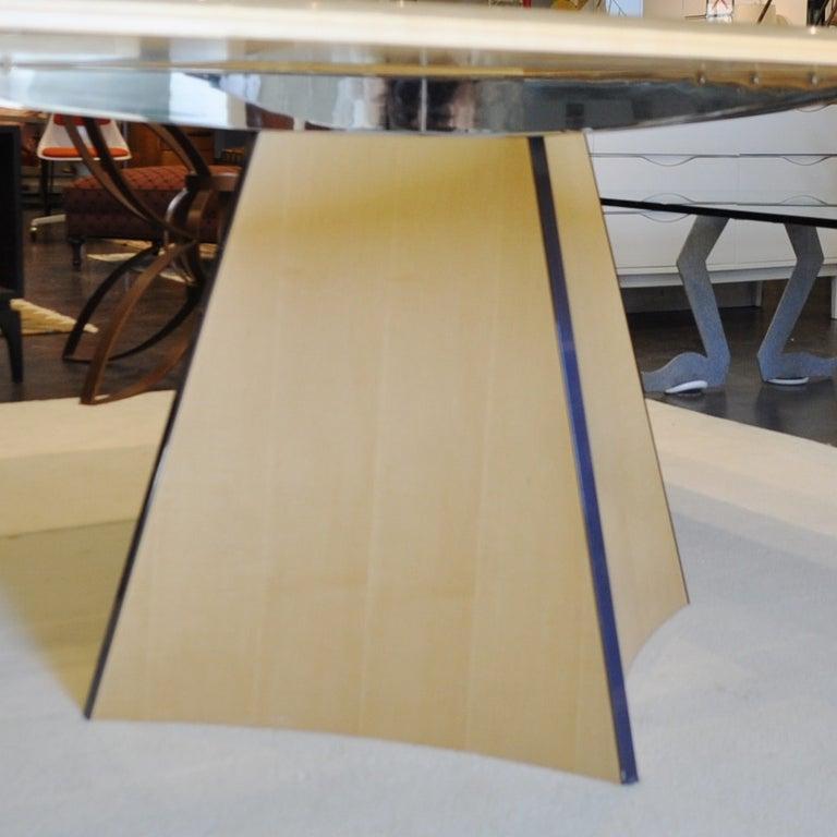 Modern Senior & Carmichael Birdseye Maple Dining Table For Sale