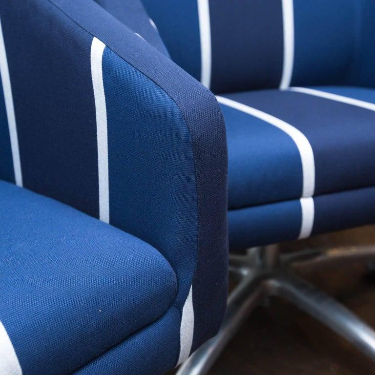 Modern Upholstered Swivel Office Chair For Sale