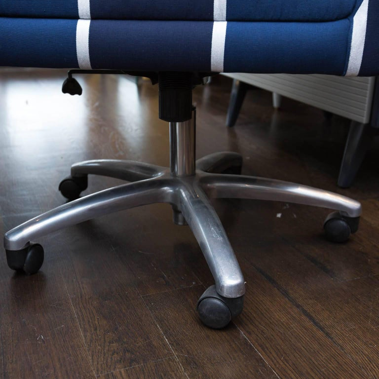 American Upholstered Swivel Office Chair For Sale