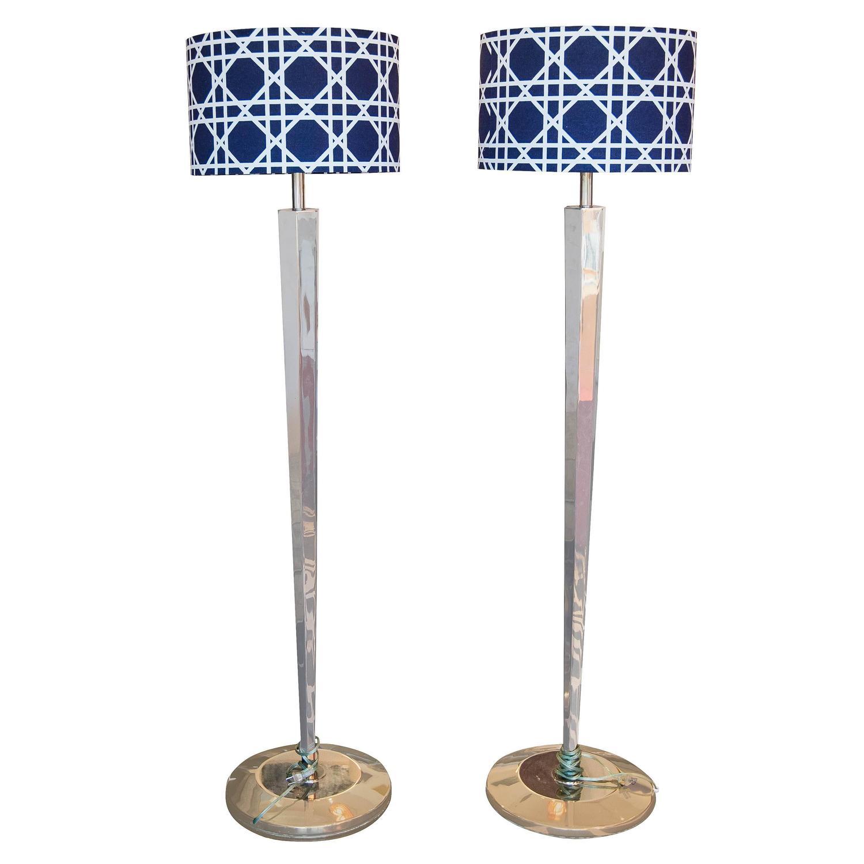 Modern Polished Steel Floor Lamps For Sale At 1stdibs